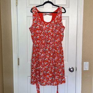 Gap Keyhole Back Dress with Waist Tie